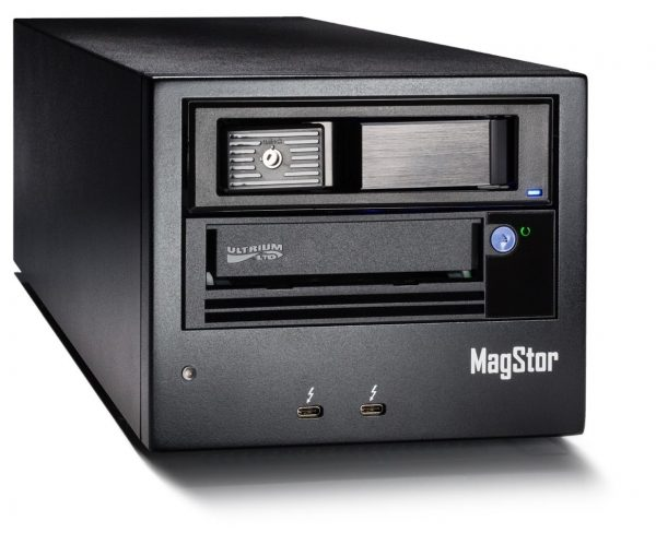 """The MagStor TRB3-HL7 features an LTO7 tape drive with a 3.5"""" SATA HDD connected via aThunderbolt™ 3 / USB-C port"""